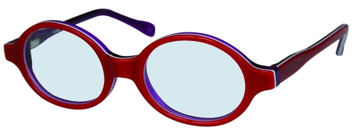 Lunettes de vue rouges et bleues adaptées aux enfants, opticien conseil la crau