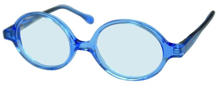 Lunettes de vue bleues adaptées aux enfants, opticien conseil la crau