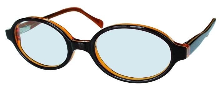 Lunettes de vue noires et orange adaptées aux enfants, opticien conseil la crau
