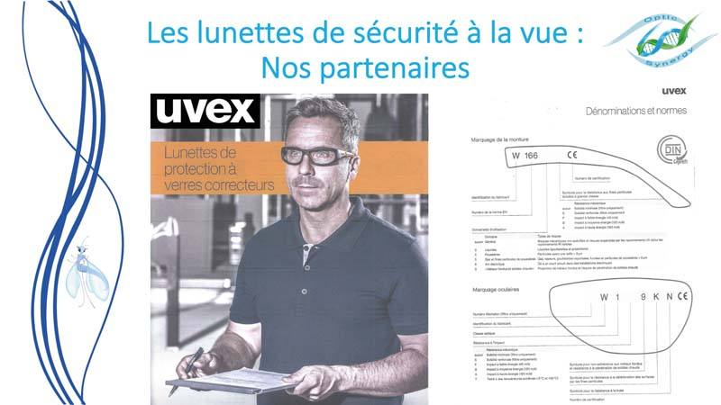 Lunettes de sécurité à la vue -Uvex - Opticien Toulon & La Crau - Optic Synergy