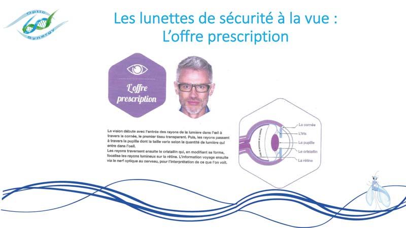 Lunettes de sécurité à la vue- offre prescription - Opticien Toulon & La Crau - Optic Synergy