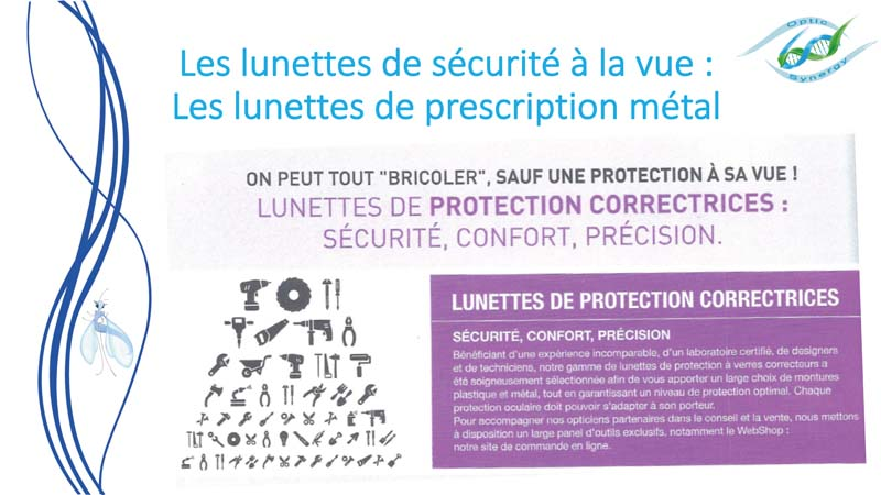 Lunettes de sécurité à la vue en métal- Opticien Toulon & La Crau - Optic Synergy