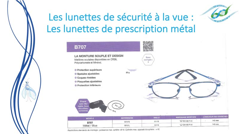 Lunettes de sécurité à la vue en métal - Opticien Toulon & La Crau - Optic Synergy