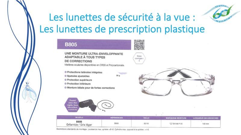 Lunettes de sécurité à la vue - Opticien Toulon & La Crau - Optic Synergy